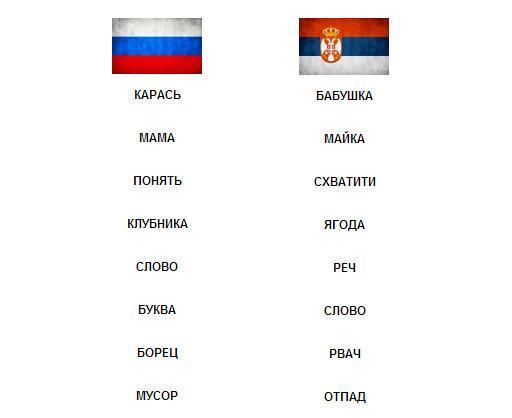 Странности сербского языка