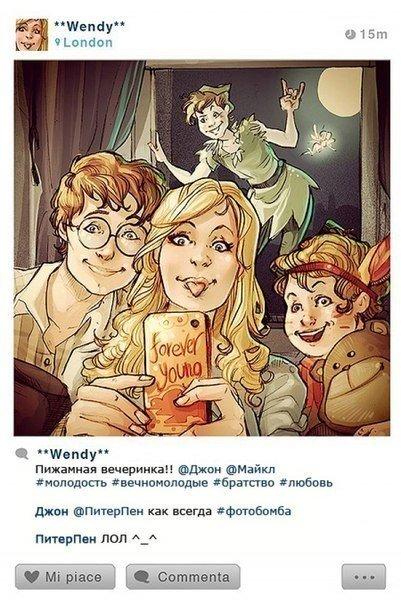 Если бы у героев Диснея был Instagram