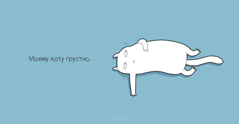 Моему коту грустно