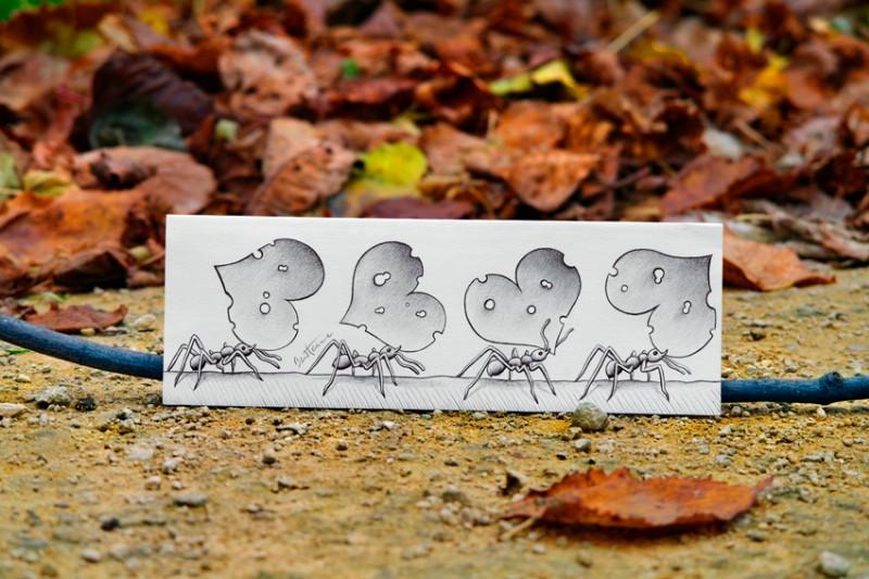 Рисунки в фотографиях от Ben Heine