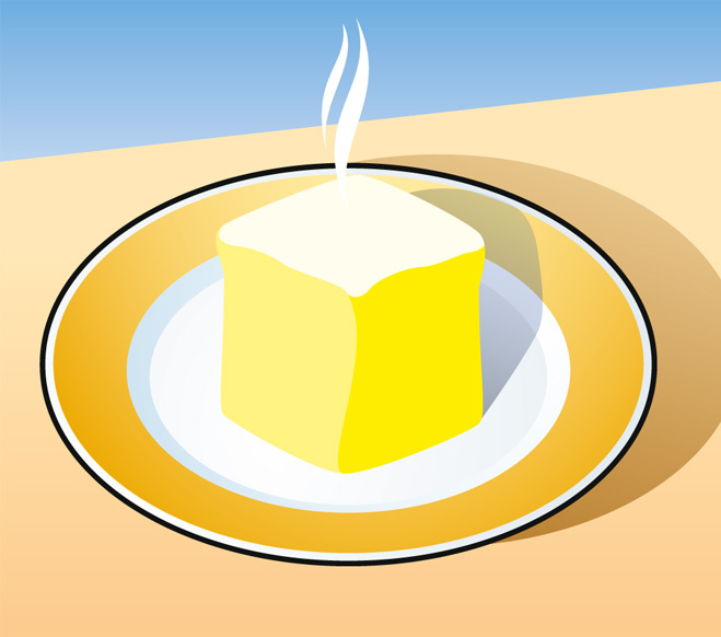 Как быстро размягчить сливочное масло