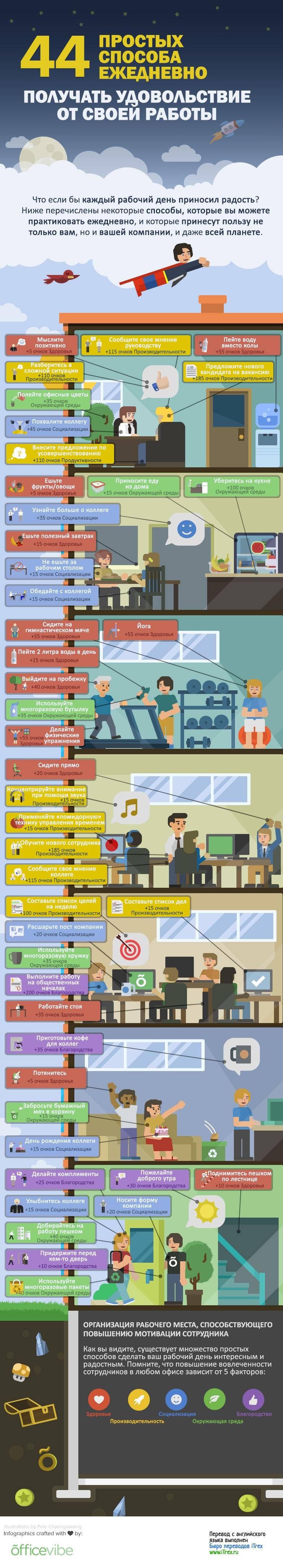 44 способа получать удовольствие от работы