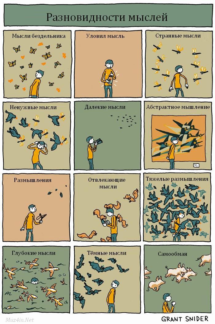 Разновидности мыслей