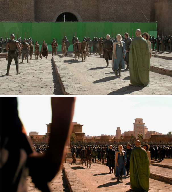 Фильмы до и после применения визуальных эффектов