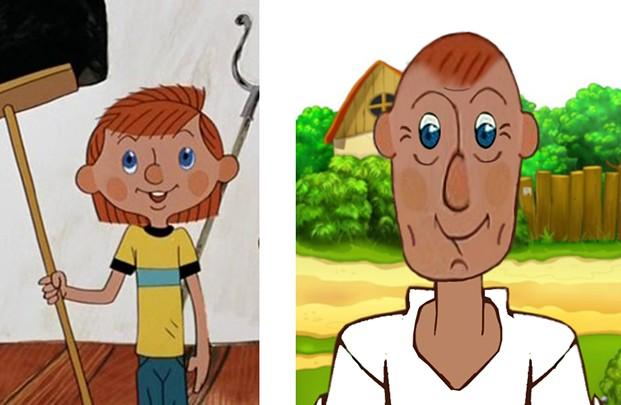До и после - герои мультфильмов