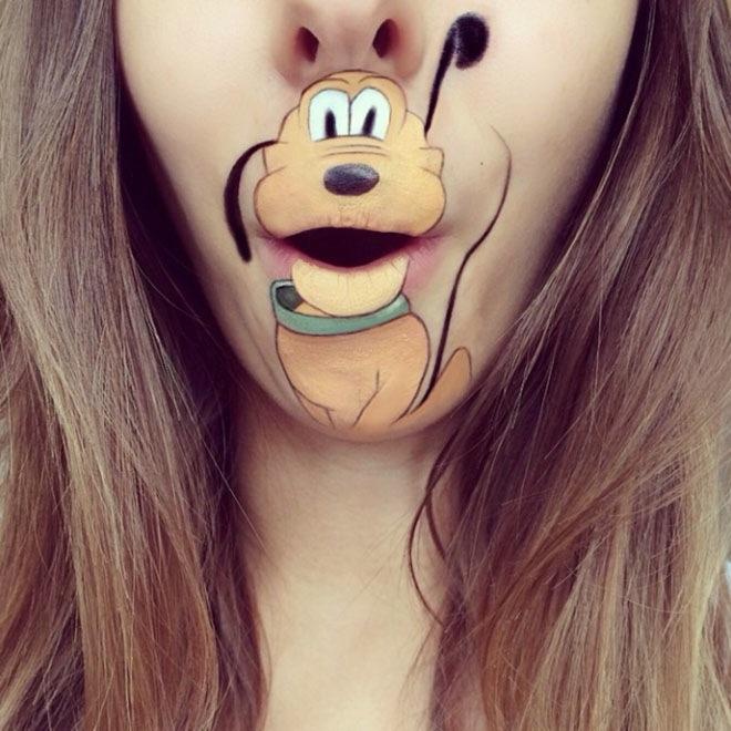 Рисунки на губах