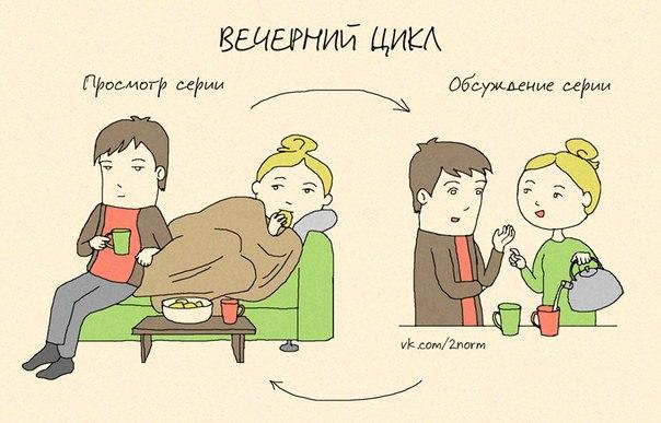 Семейная жизнь в картинках