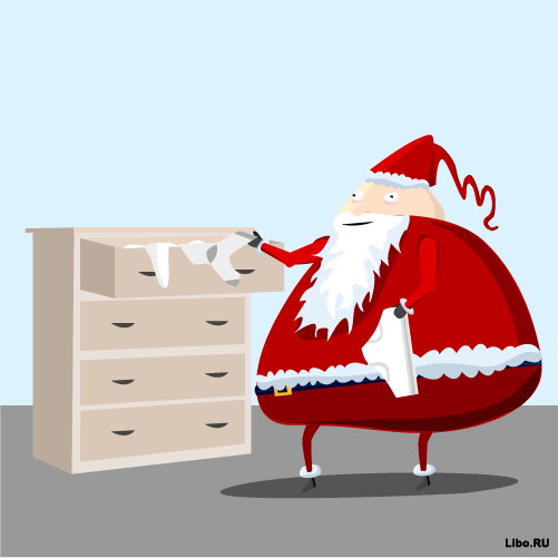 Что делает Санта-Клаус, пока его никто не видит