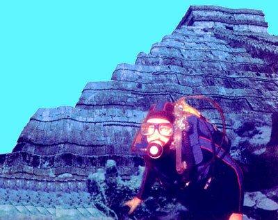 Подводная пирамида озера Рок