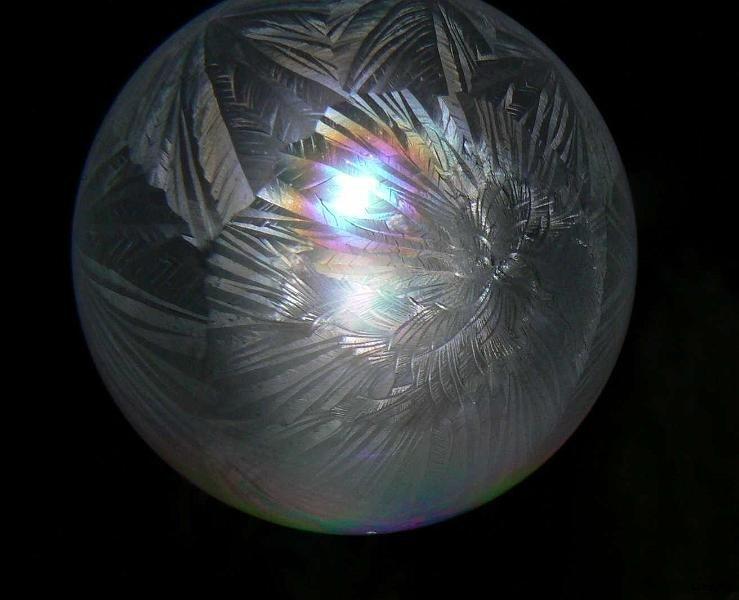 Делаем ледяные мыльные пузыри