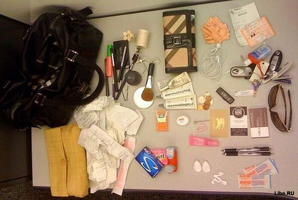 Что женщины носят у себя в сумочках (14 фото)