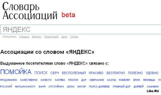 Словарь ассоциаций