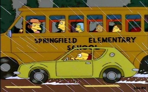"На чем ездят в ""Симпсонах"""