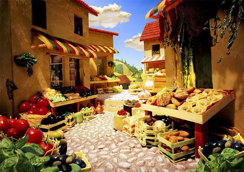 Foodscapes - пейзажи из еды