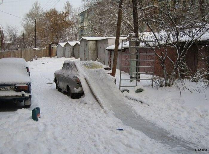 А у вас снег уже выпал?