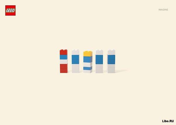Минимализм: герои мультфильмов в лего