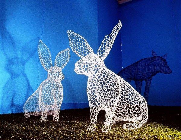Скульптуры из сетки