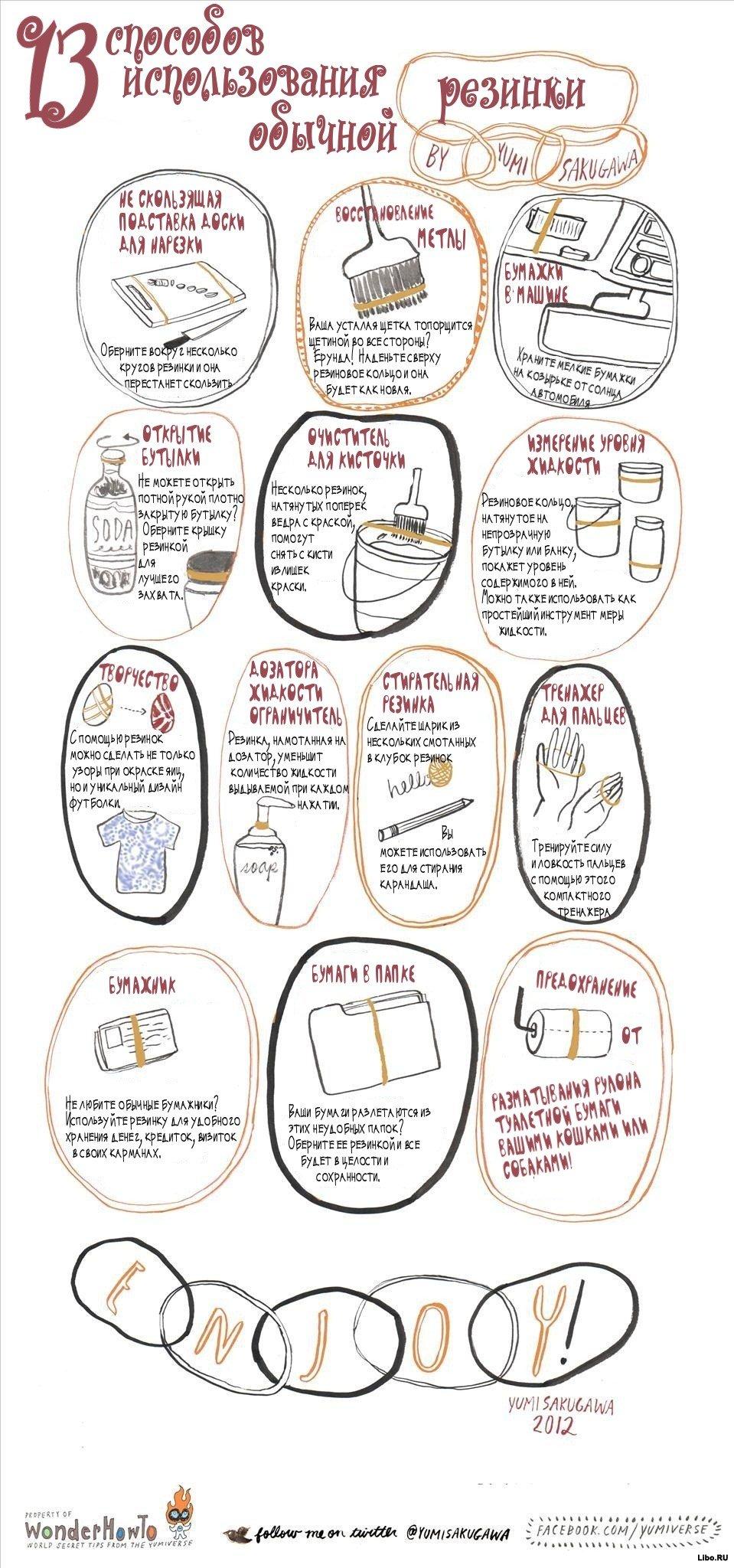 13 необычных способов применения обычной резинки