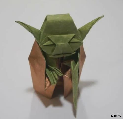 Оригами для чайников. Магистр Йода.
