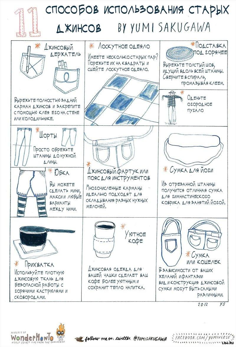 11 способов использования старых джинсов