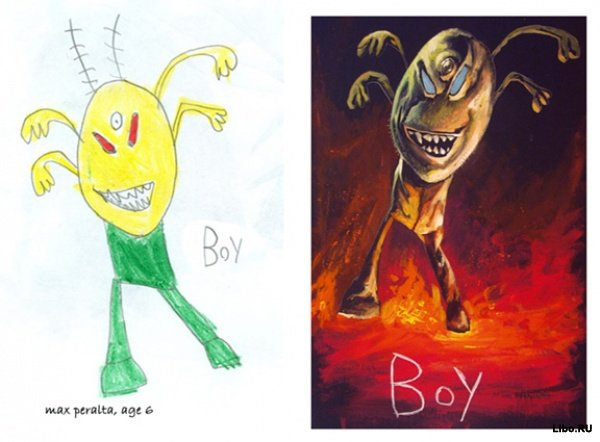 Детские рисунки глазами художника