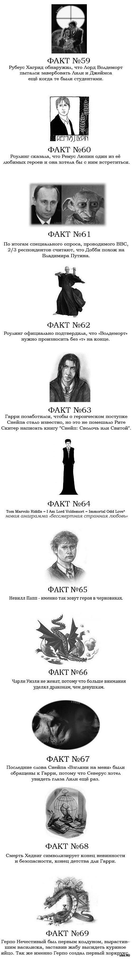 80 фактов Гарри Поттере